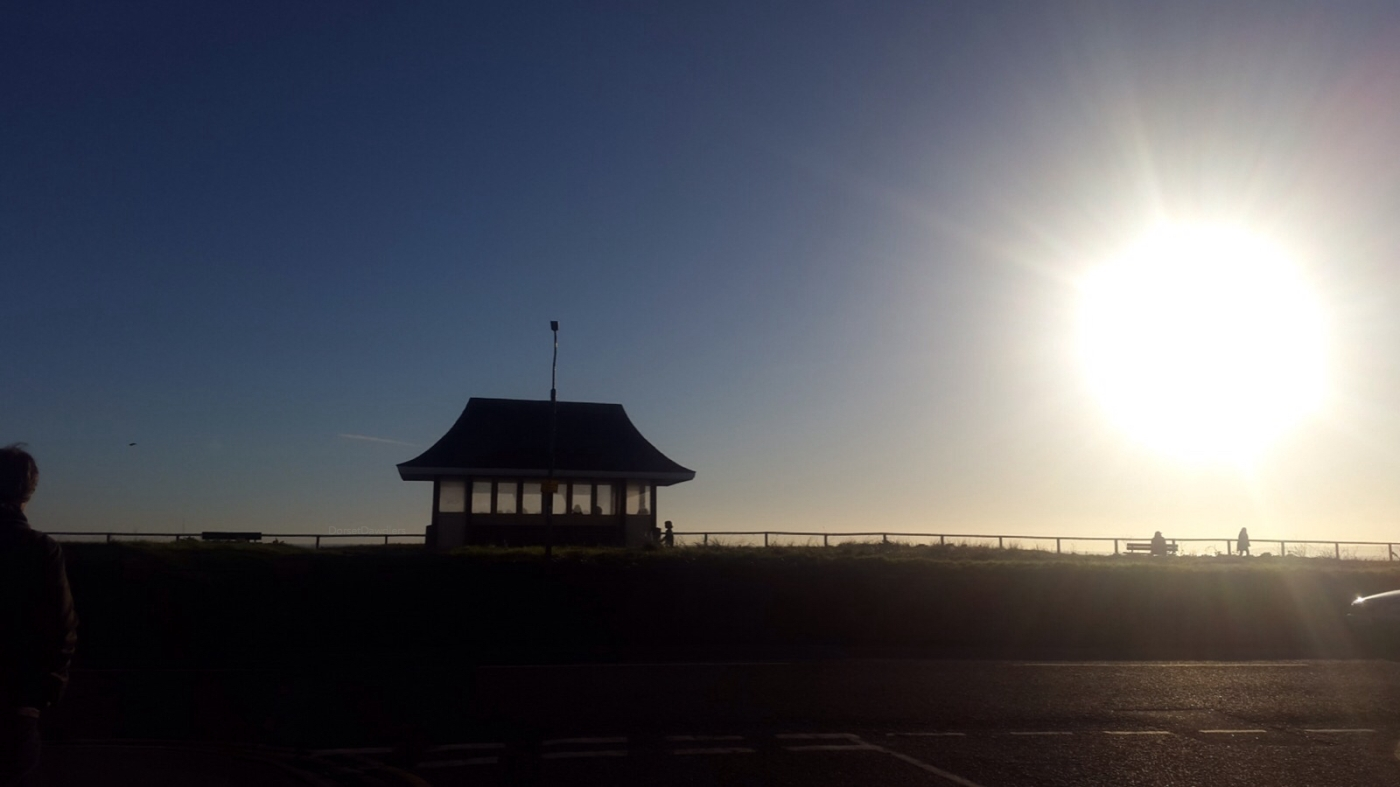 Southbourne Beach Bournemouth at sunset