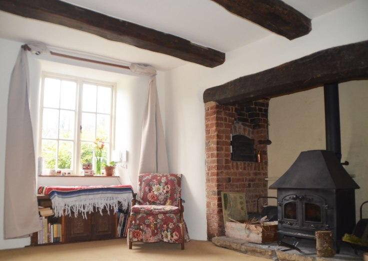 Inglenook Fireplace and wooden beams