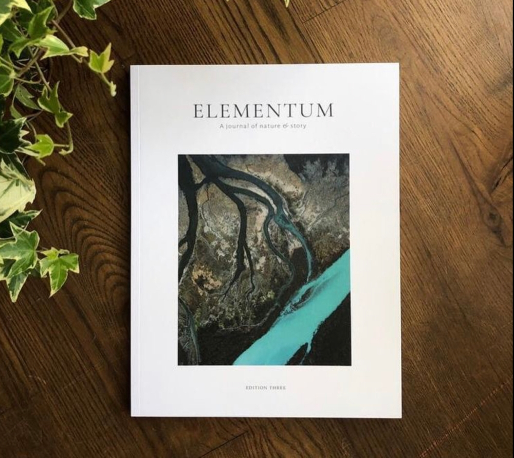 Elementum Journal on a table